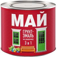 Эмаль Ярославские краски Май на ржавчину 3в1 (1.9кг, черный) -