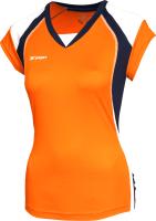Майка волейбольная 2K Sport Energy / 140042 (XXL, оранжевый/темно-синий/белый) -