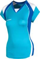 Майка волейбольная 2K Sport Energy / 140042 (S, небесно-голубой/синий/белый) -