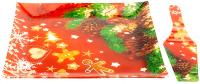 Блюдо для торта Zibo Shelley Новогоднее настроение / S3112/2PDQ Z127 (с лопаткой) -