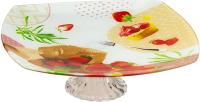 Блюдо для торта Zibo Shelley Клубничный десерт / B350010B W089 -