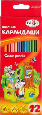 Набор цветных карандашей ГАММА Мультики / 050918-07