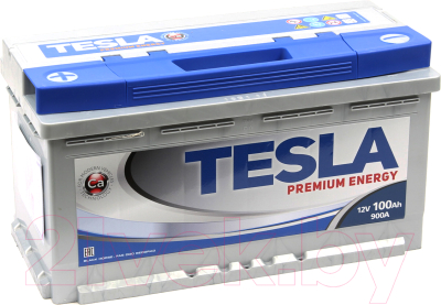Автомобильный аккумулятор TESLA Premium Energy R низкий / TPE100.0