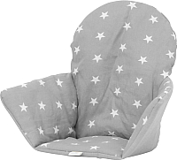 Чехол на стульчик для кормления Polini Kids Antilop звезды (серый) -