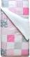 Комплект постельного белья Martoo Comfy B 1.5 (бязь, розово-серый печворк) -