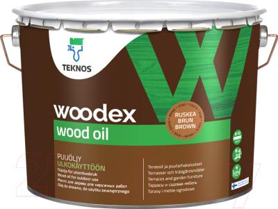 Масло для древесины Teknos Woodex Wood Oil (9л, коричневый)