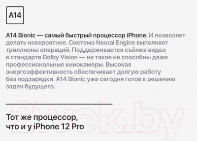 Смартфон Apple iPhone 12 Mini 256GB / MGE93 (черный)