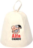 Шапка для бани Банные Штучки Alfa самец / 41144 -