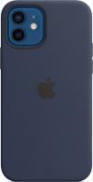 Чехол-накладка Apple Silicone Case with MagSafe для iPhone 12/12 Pro / MHL43 (темный ультрамарин) -