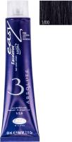 Крем-краска для волос Lisap Escalation Easy Absolute 3 1/00 (60мл, интенсивный черный) -