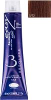 Крем-краска для волос Lisap Escalation Easy Absolute 3 5/72 (60мл, светло-каштановый бежевый холодный) -