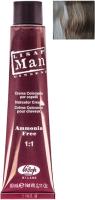 Крем-краска для волос Lisap Man 6 (60мл, темный блондин) -