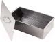 Коптильня Кедр С поддоном 42x27x17.5 / К2-0.5НП (0.5мм, нержавеющая сталь) -