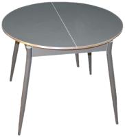 Обеденный стол Древпром Сириус М61 (графит/прямые ножки графит) -