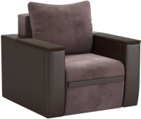 Кресло-кровать Sofos Атика New тип D нераскладное  (Cortex Java/Teos Dark Brown/венге) -