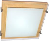Потолочный светильник Элетех Полесье 300х300 НПБ 09-2х40-001 М94 (белый/сосна) -
