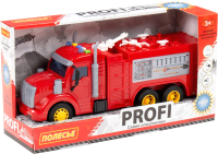 Автомобиль игрушечный Полесье Профи. Пожарный / 86518 (в коробке) -