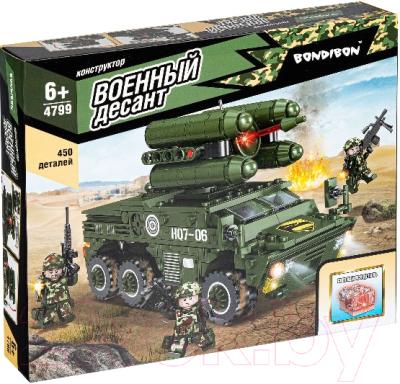 Конструктор Bondibon Военный Десант. Зенитная установка / ВВ4799