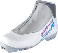 Ботинки для беговых лыж Nordway DXB006WA37 / A17ENDXB006-WA (р.37, белый/серый) -