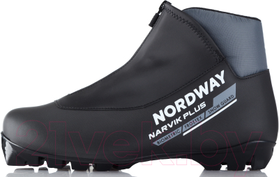 Ботинки для беговых лыж Nordway 17NRBPBA42 / A17ENDXB008-BA (р.42, черный/серый)