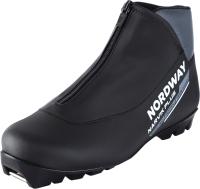 Ботинки для беговых лыж Nordway 17NRBPBA46 / A17ENDXB008-BA (р.46, черный/серый) -