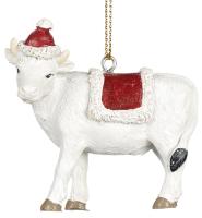 Елочная игрушка Goodwill Корова белая / MC 35061-2 -
