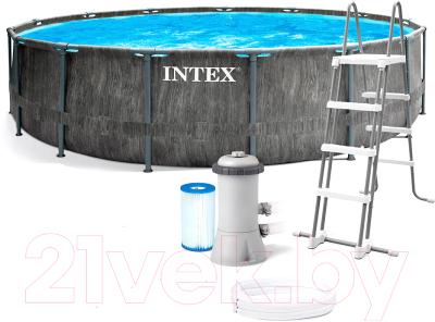 бассейн intex prism frame 26736 Каркасный бассейн Intex Greywood Prism Frame Premium / 26744NP