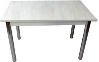 Обеденный стол Solt СТД-08 (северное дерево светлое/углы прямые/ноги круглые хром) -