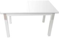 Обеденный стол Solt СТД-09 (белый/углы прямые/ноги квадратные белые) -