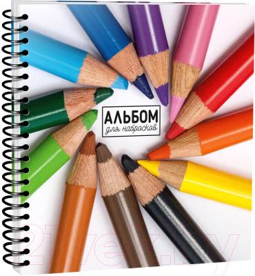 Скетчбук Попурри Цветные карандаши