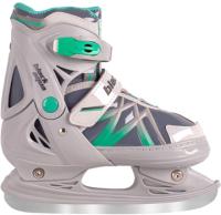 Ролики-коньки Black Aqua AS-410 (р-р 31-34, серый/зеленый) -