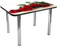 Обеденный стол Solt №114 110x70 (кромка черная/ноги хром) -