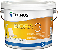 Краска Teknos Biora 3 (900мл, матовый белый) -