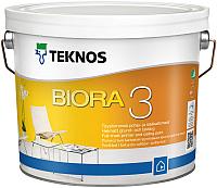 Краска Teknos Biora 3 (9л, матовый белый) -