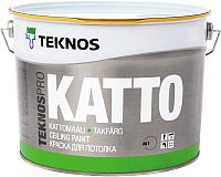 Краска Teknos Teknospro Katto Tak Valkoinen (2.7л, белый) -