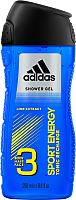 Гель для душа Adidas Sport Energy Body-Hair-Face (250мл) -