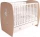Детская кроватка Polini Kids French 710 Amis с ящиком (белый/дуб пастельный) -