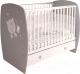 Детская кроватка Polini Kids French 710 Teddy с ящиком (белый/серый) -
