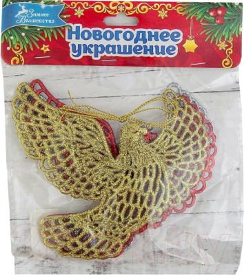 Набор ёлочных игрушек Зимнее волшебство Голубки резные / 1400056