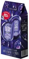 Набор косметики для волос Gliss Kur Объем и восстановление шампунь 250мл + бальзам 200мл -