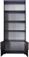 Стеллаж Компас-мебель КС-005-3Д1 (венге темный) -