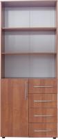 Стеллаж Компас-мебель КС-005-6Д1 (ольха) -