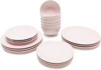 Набор тарелок Keramika Ege (18пр, розовый) -