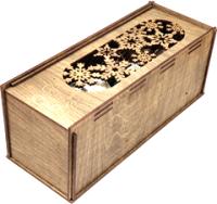 Коробка подарочная для бутылки Woodstrong 2917 (33.5х13.5х13.5) -