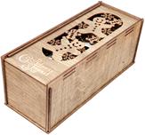 Коробка подарочная для бутылки Woodstrong 2918 (33.5х13.5х13.5) -