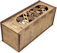 Коробка подарочная для бутылки Woodstrong 2920 -