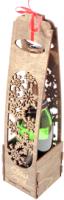 Коробка подарочная для бутылки Woodstrong 2921 (39.5х10х10) -