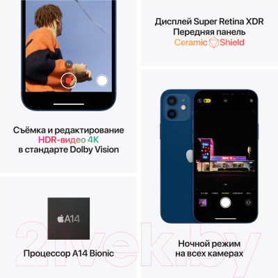 Смартфон Apple iPhone 12 64GB Demo / 3H523 (синий)