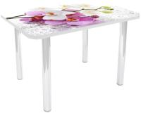 Обеденный стол Solt №3 110x70 (кромка белая/ноги белые) -
