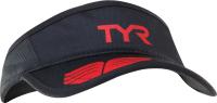 Кепка для триатлона TYR Running Visor / LRUNVIS 001 (черный/красный) -